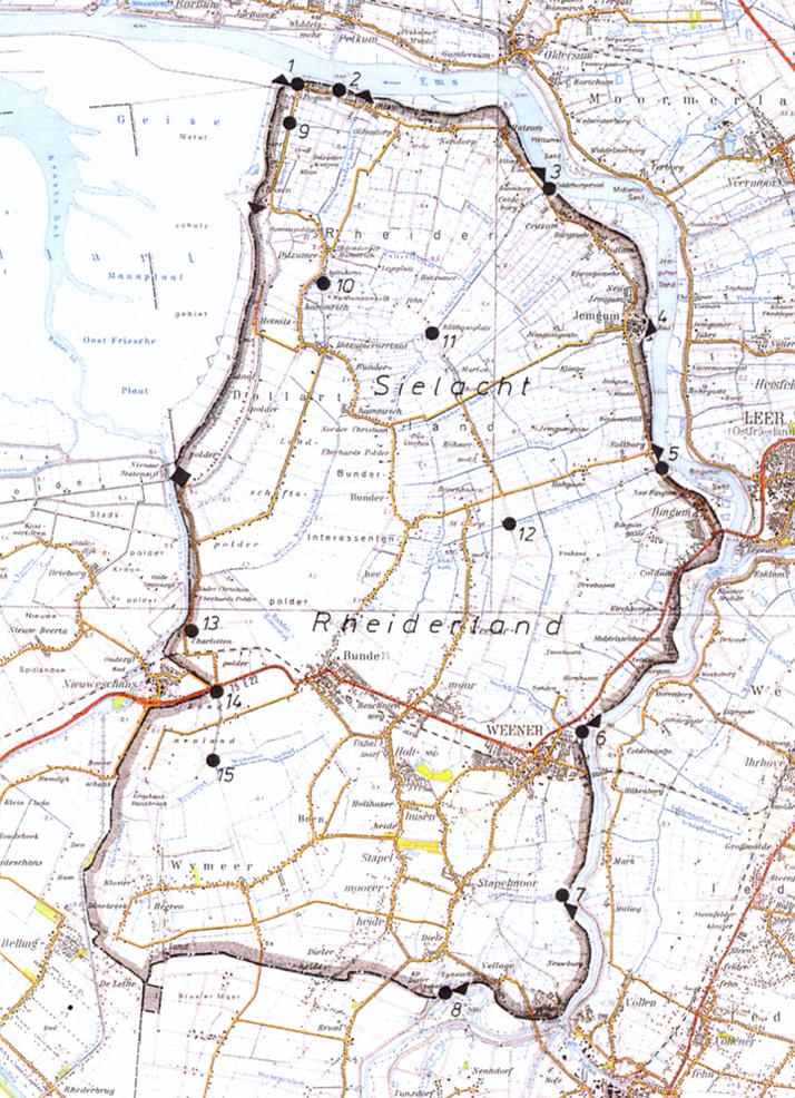 Gebiet der Rheider Deichacht